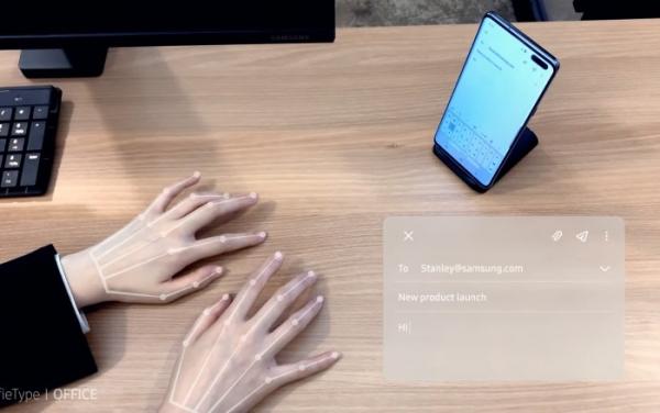 «Слепая печать» без клавиатуры — технология SelfieType от Samsung   Гаджеты и технологии