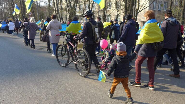 В Краматорске состоялось патриотическое шествие в поддержку территориальной целостности Украины