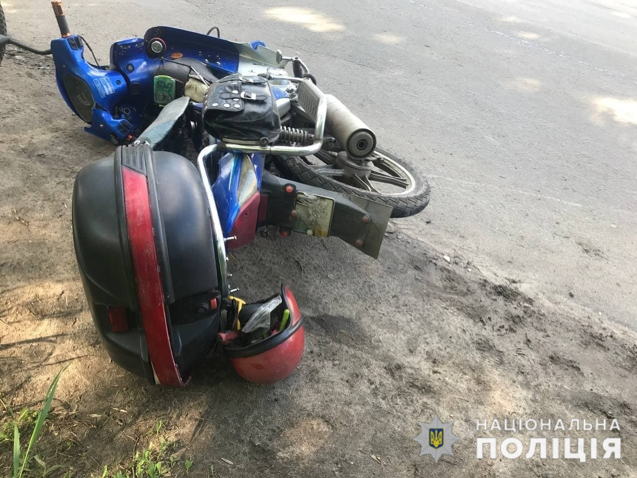 В Краматорске произошло столкновение автомобиля и мопеда