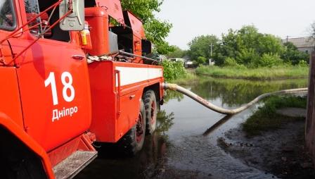 У Дніпрі надзвичайники продовжують відкачувати воду з підтоплених територій (ФОТО) (ОНОВЛЕНО на 12:00 21 червня) – | Новини міста Дніпро та області