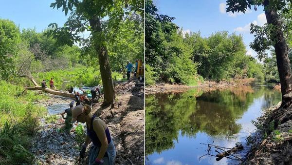 Каждые выходные в режиме non-stop. Под Харьковом продолжают очищать реку – Новости Харькова