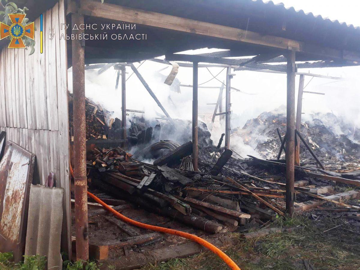 Згоріло три тонни сіна та 15 кубометрів дров – у Бутинах сталася пожежа – Новини Львова та області