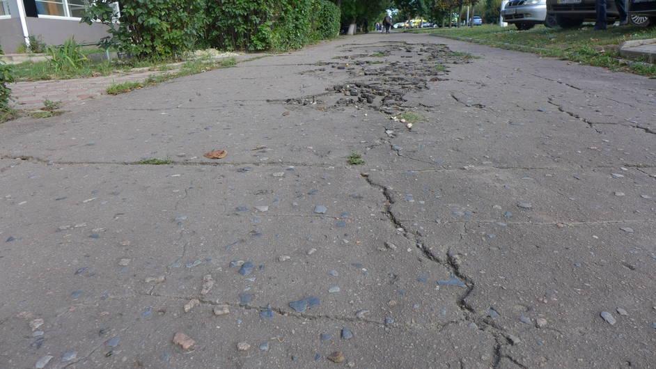 В Краматорске планируют отремонтировать тротуар по ул. Парковой