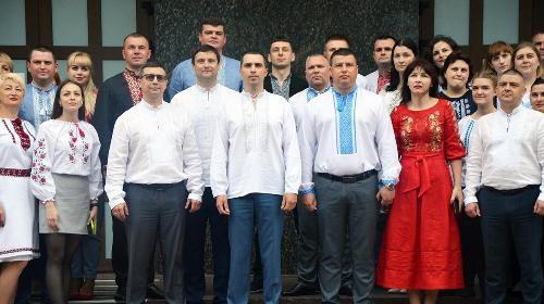 Поліцейські Житомирщини у День вишиванки змінили однострій на національне вбрання