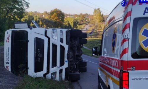 На Уманщині перекинулася вантажівка, постраждав водій | Последние новости Черкасс за сегодня