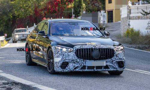 «Заряженный» седан: Mercedes-AMG S 63 e попался на дорожных тестах — АВТО НОВОСТИ